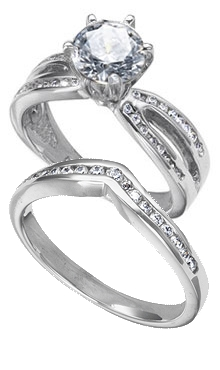 Palladium Wedding Sets Danforth Diamond