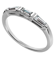 Platinum 2 mm Wedding Band with Baguettes (.37 ct. tw.)