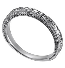 palladium tapered 29 mm engraved womans wedding band - Palladium Wedding Rings